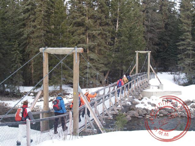 Canadian Rocky Mountains - De brug aan het begin van de Icewalking