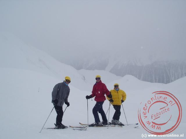 Wintersport Ischgl - Robert, Berry en Erik Jan in de mist