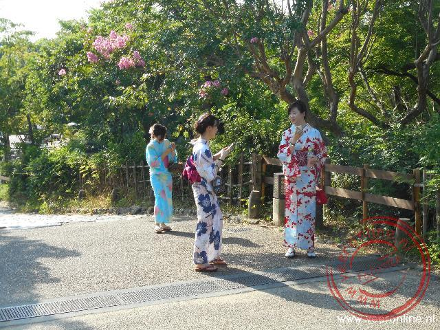 Betoverend Japan - Damen gekleed in kimono s
