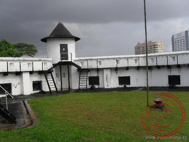 Maleisisch Borneo - Het fort Margherita in Kuching is in 1879 gebouwd door Charles Brooke.