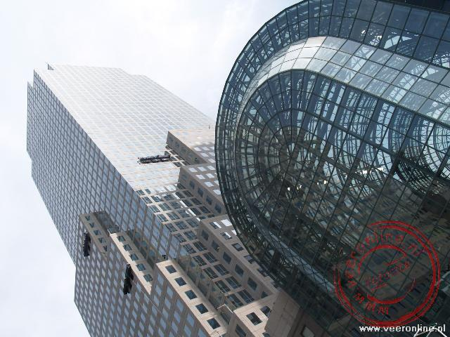Stedentrip New York - Het World Financial Center met de glazen overkapping van de Wintergarden