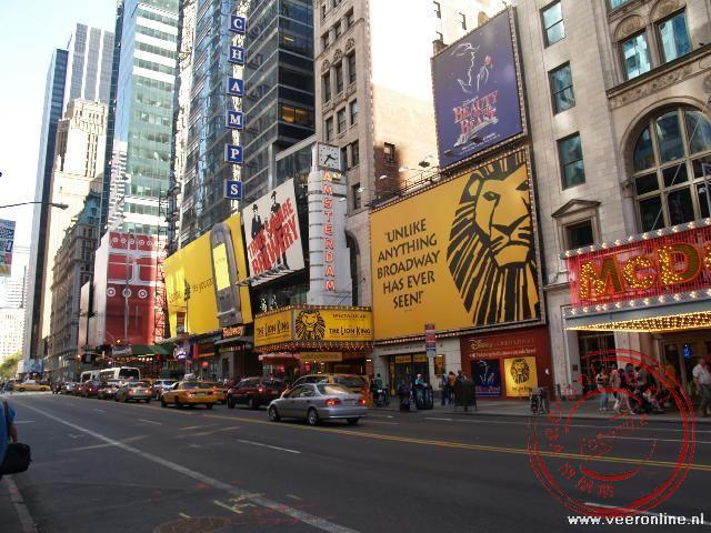Stedentrip New York - Het Amsterdam Theater met de voorstelling The Lion King op 42th Street