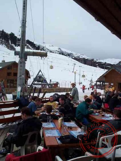 Wintersport Valthorens - De lunch in Meribel